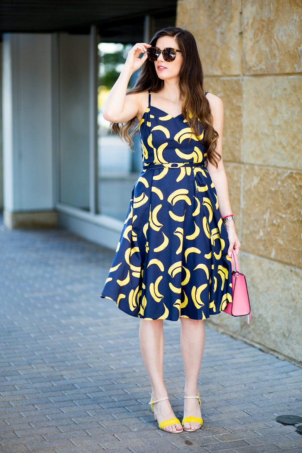 446e2240e7deaf Banana dress from Modcloth with yellow heels
