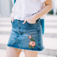 A Rose Denim Skirt to Die For - A Festival Style Favorite