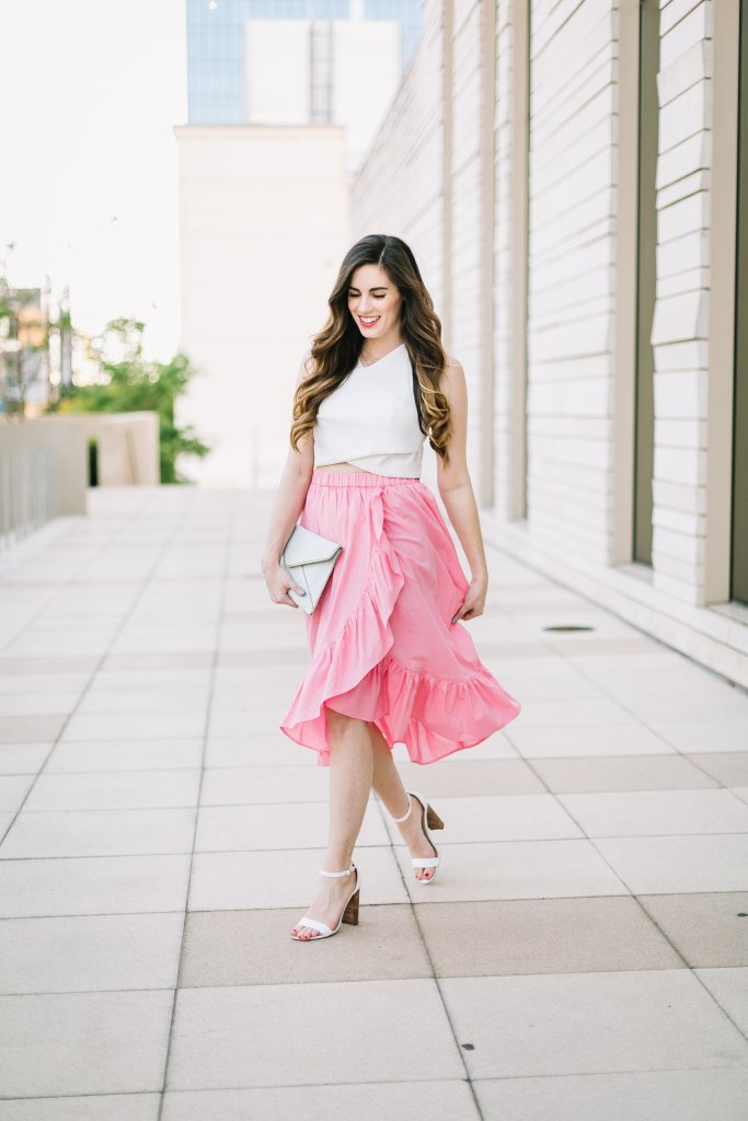 Too Cha-Cha for Words: A Pink Midi Skirt That Will Make You Smile