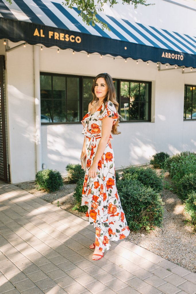 A Rosy Wedding Guest Dress For Fall
