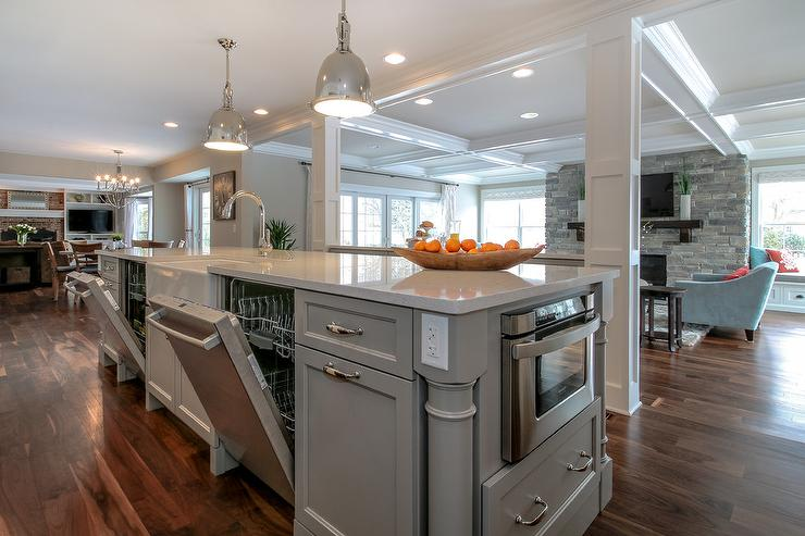 Image result for kitchen with two dishwashers