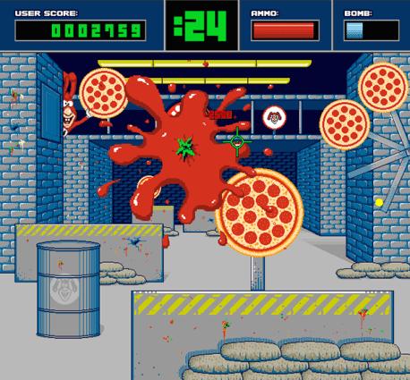 Shoot pizzas