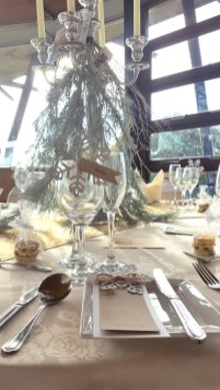 Glitter snowflake table setting