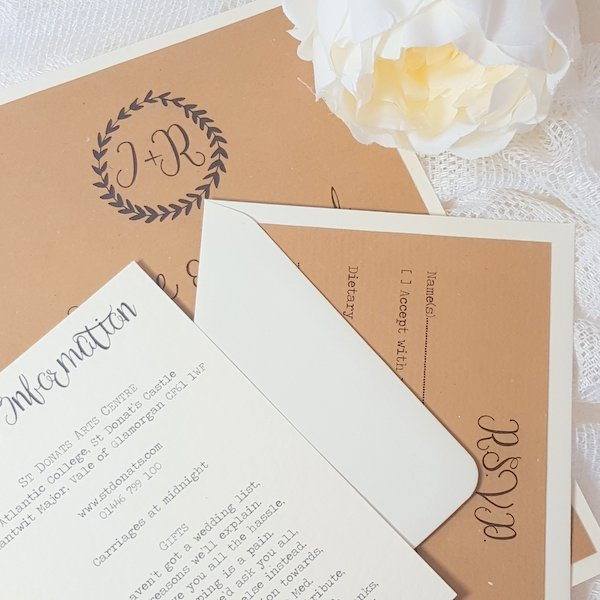 rustic kraft guest information card