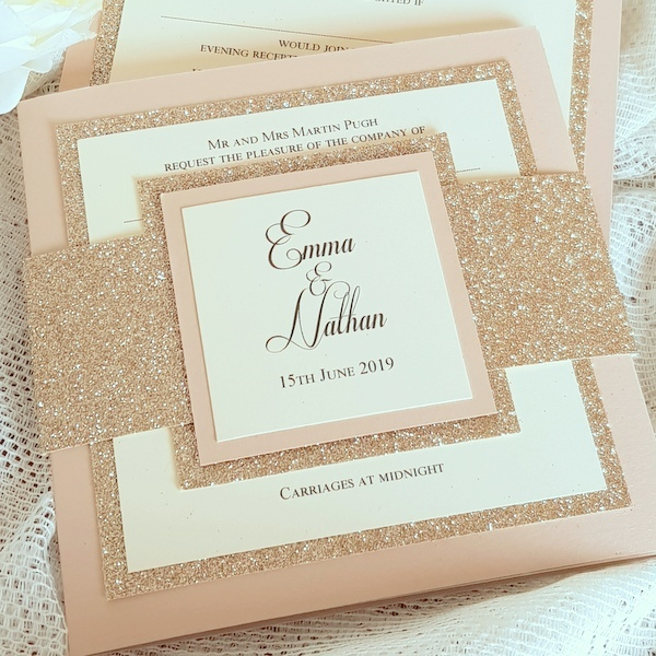glitterati bellyband invitation