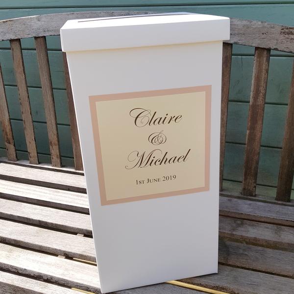 lush and ivory wedding post box