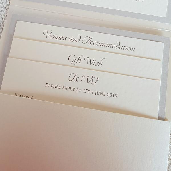 classic elegant pocketfold invitation