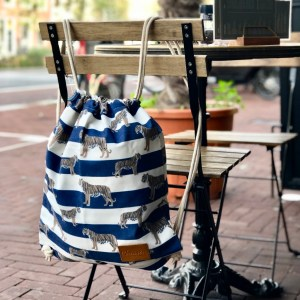tigers & stripes royal blue rugzak