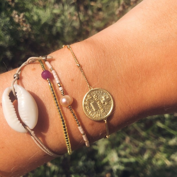 love me more round armband goud