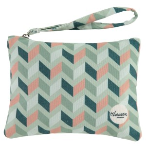 get lost mint clutch grafisch