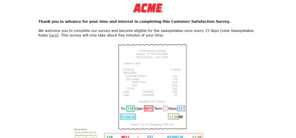 www.acmemarketssurvey.com