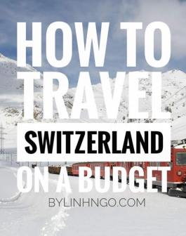 chi phí du lịch Thụy Sĩ