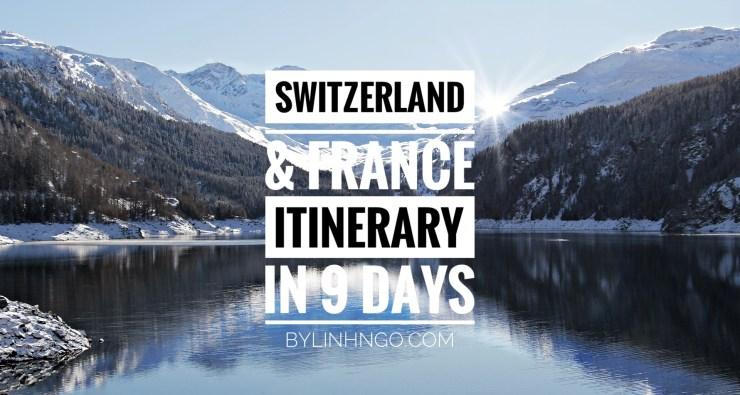 Lịch trình du lịch Thuỵ Sĩ
