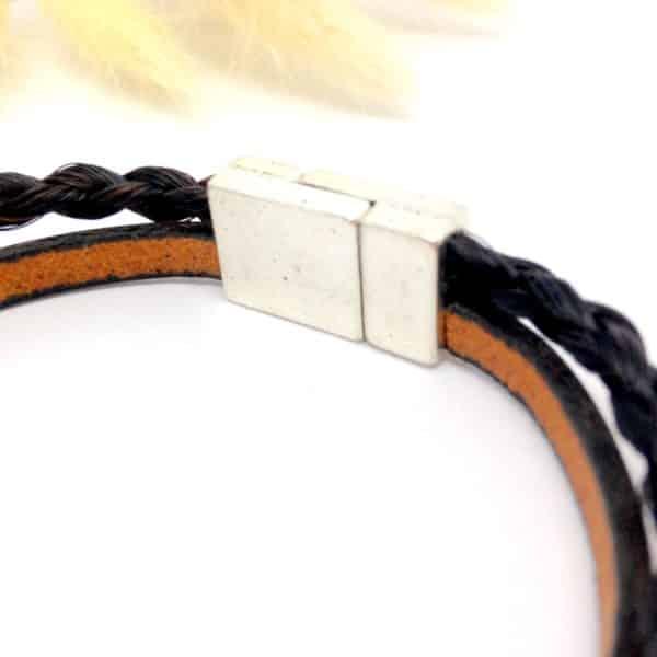 Bracelet en crins Paloubet 3D détail
