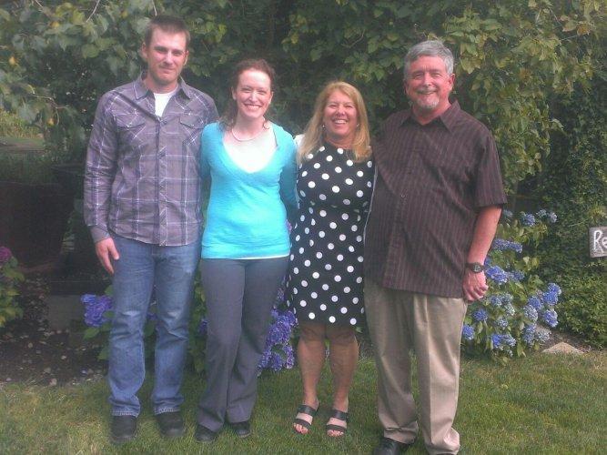 Destin, me, Karen, and Dad