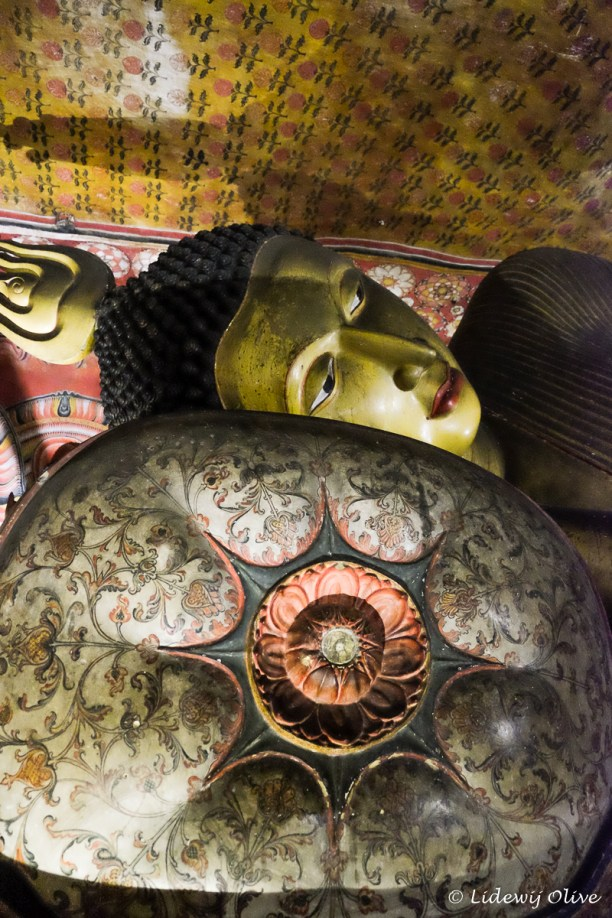 Buddha sleeping in cave temple, Dambulla