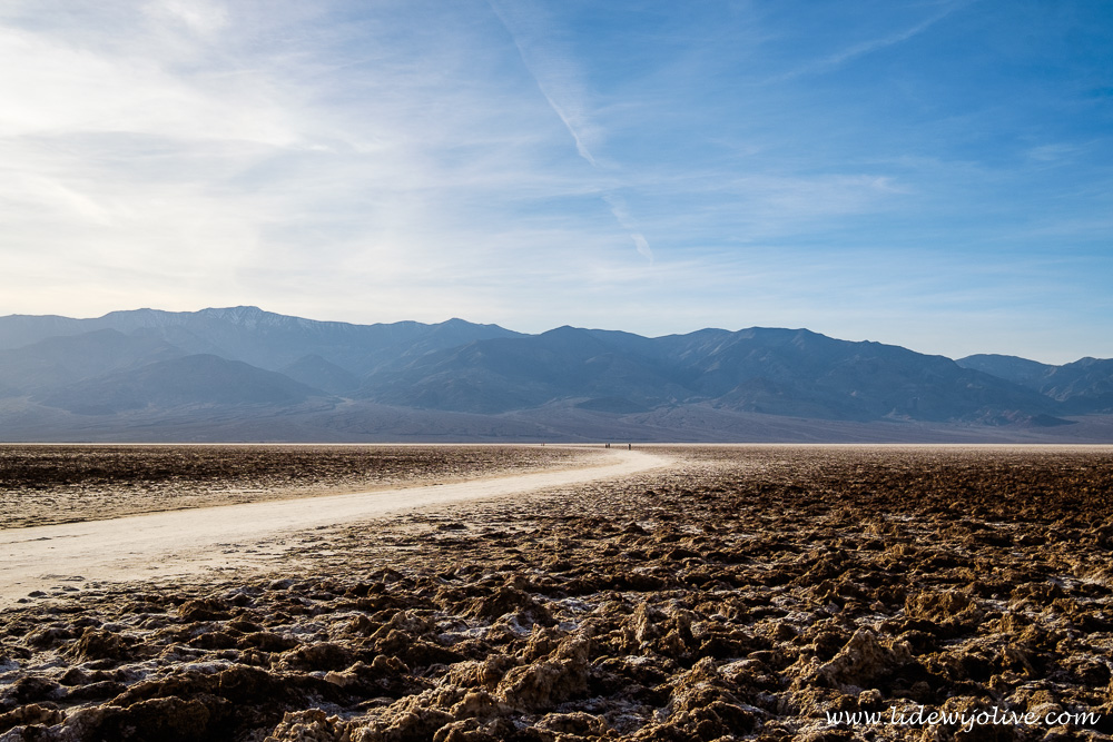 Salt flat in death valley