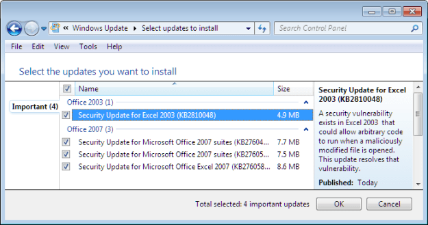 Windows Update repeatedly offers the same update