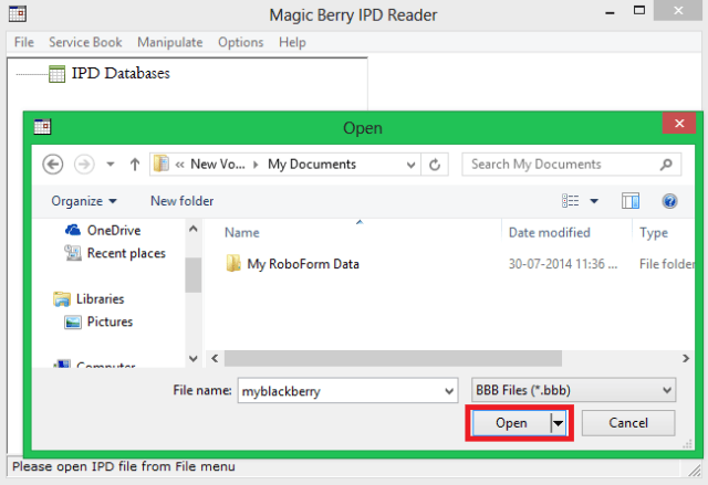 How to open .bbb-.opd files in Windows