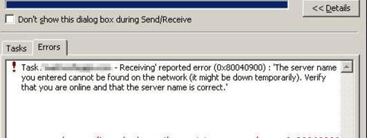 cannot start microsoft outlook unknown error