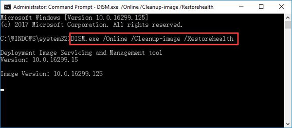 dism.exe online cleanup image restore health