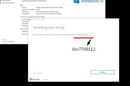 Fix Windows 10 Upgrade error 0xc7700112 - BynaryCodes