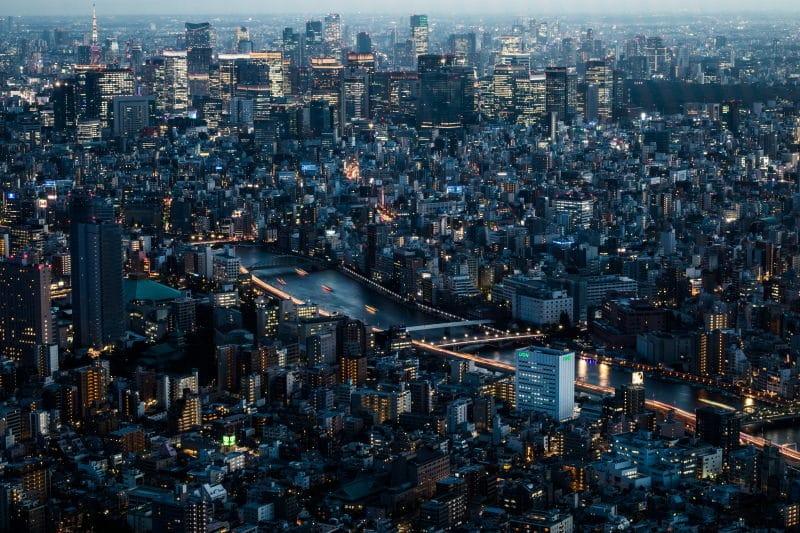 préparer son voyage au Japon vue Tokyo