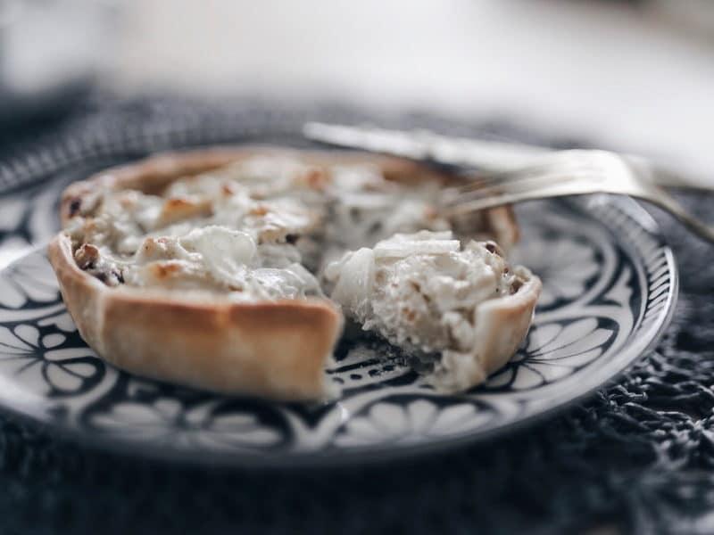 recette végétarienne tarte fenouil, fromage et noix dégustation