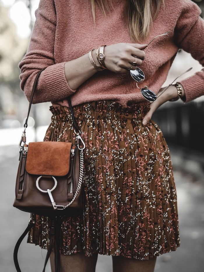 Inspiration look femme 2019 sac à dos Chloé faye backpack blog mode Lyon paris France By Opaline