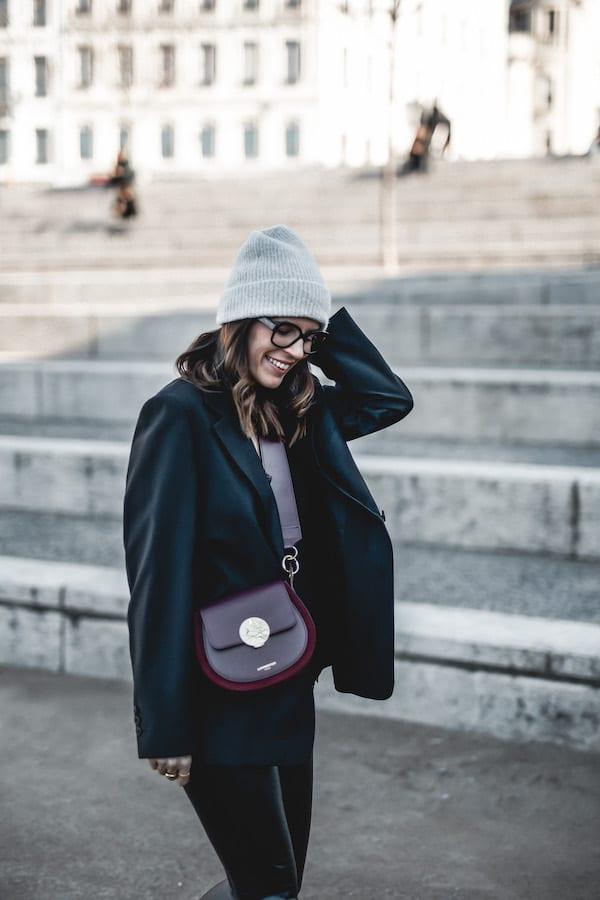 Inspiration look femme blazer oversize sac Le Parmentier Forzieri