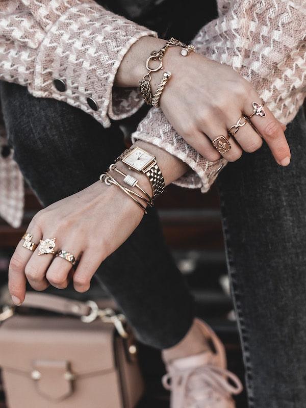 Montre Rosefield The Boxy XS accumulation bijoux créateur