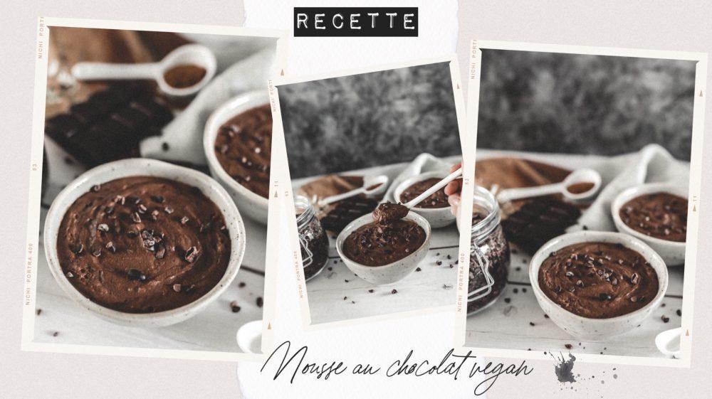 Recette mousse au chocolat vegan aquafaba