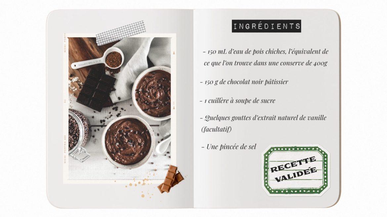 Ingrédients mousse au chocolat