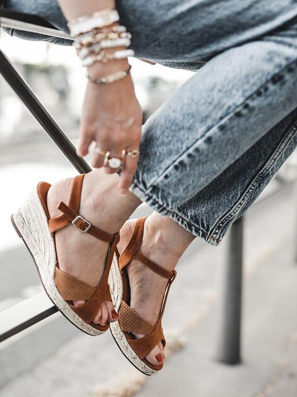 Inspiration mode look femme 2020 fashion compensées Escadrille Paris