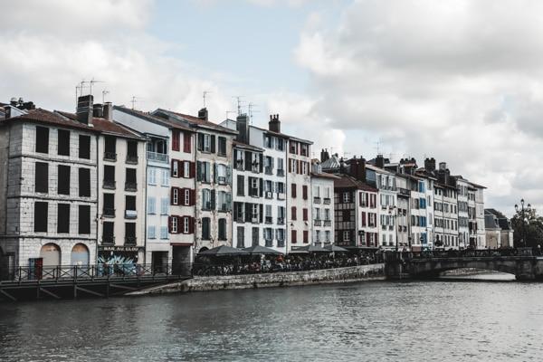 Les bords de la Rive Bayonne France