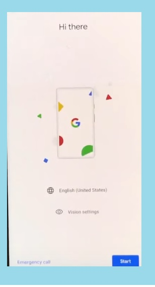 Hi there screen for Google Oneplus