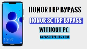 Honor 8c FRP Bypass unlock google account 8.1