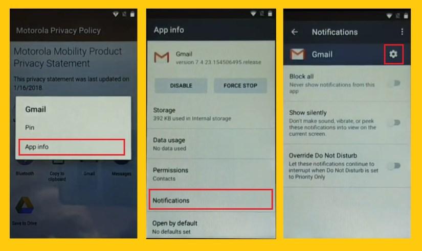 Tap App Info to Moto FRP Bypass / Unlock