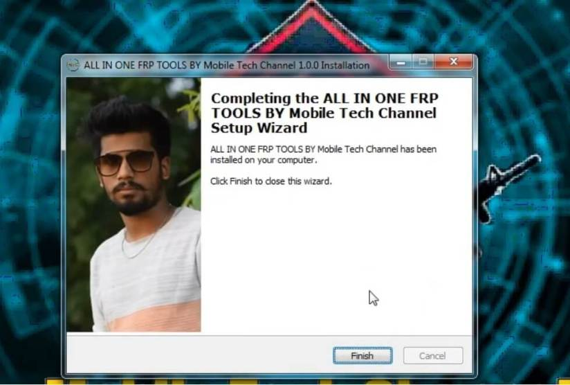 Click finish to install All in One FRP Tools unlock