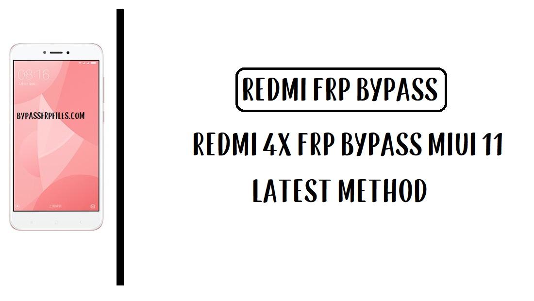 Xiaomi Redmi 4x FRP Bypass - Unlock Google Account [MIUI 11]