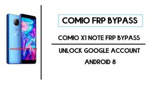 Comio X1 Note FRP Bypass | Unlock Google Account (Android 8)