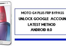 Moto G4 Plus FRP Bypass | How To Unlock Google Account (Android 8.1)