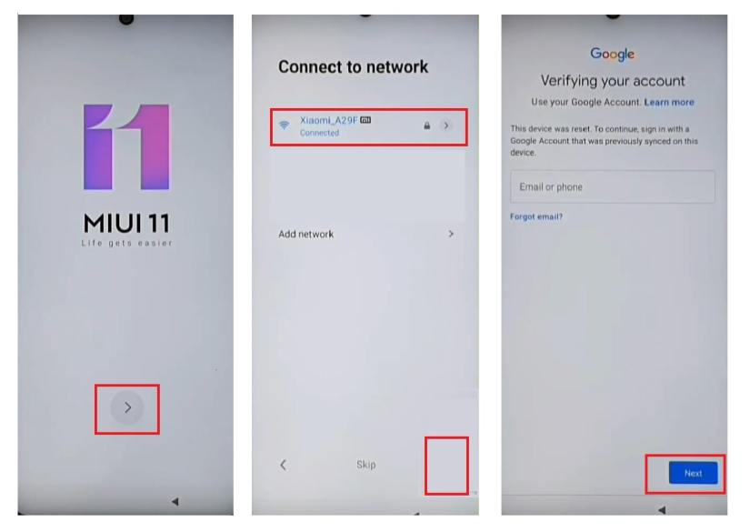 Connect you phone to a wifi network to bypass unlock frp xiaomi MIUI 12