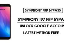 Symphony I97 FRP Bypass | Unlock Google Account Without PC – Android 9 (2020)