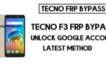 Tecno F3 FRP Bypass | How to unlock Tecno google account (Android 8)