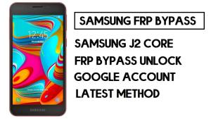 Samsung A2 Core FRP Bypass | How to Unlock SM-A260 Google Account – Without PC (Android 8)