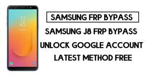 Bypass FRP Samsung On8 | Unlock SM-J810 Google – Android 10