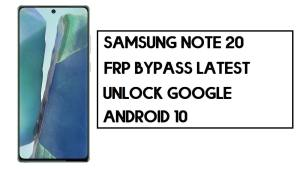 Samsung Note20 FRP Bypass | How to Unlock SM-N980 Google Account – Without PC (Android 10)