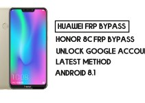 How to Honor 8C FRP Bypass | Unlock Google Account – Without PC (Android 8.1)