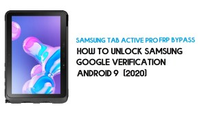 Samsung Tab Active Pro FRP Unlock | Bypass SM-T547 Android 9